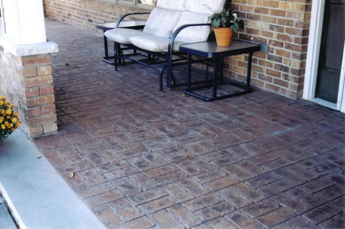 Stamped Concrete Porch Overlay. Stamped Concrete Patio Overlay
