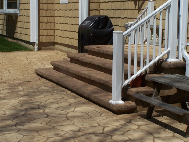 stamped concrete patio with stairs. Interesting Patio Stamped Concrete Patio And Stairs Intended With D