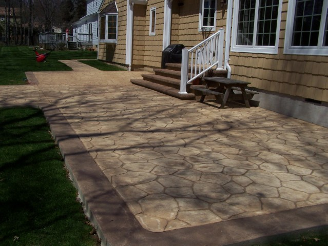 Amazing Stamped Concrete Patio
