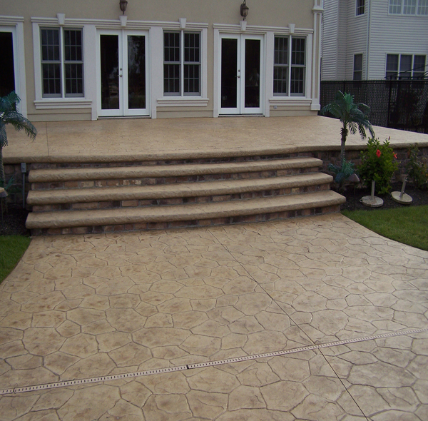 Stamped Concrete Patio Overlay