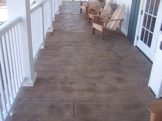 Wood Plank Stamped Concrete Floor